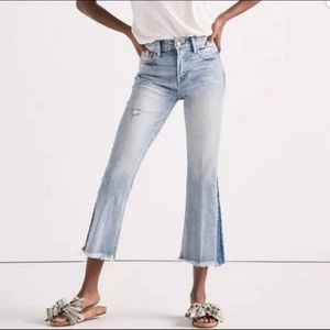 Lucky Brand Bridgette Cropped Flare Jeans 25 NEW